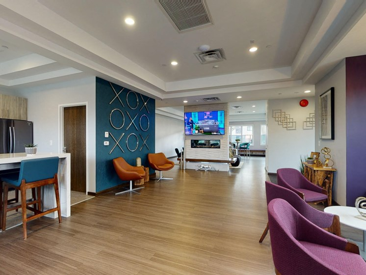 clubroom resident lounge at Rose Hill Apartments, Virginia