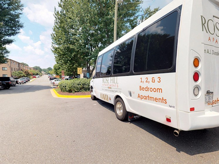 shuttle for residents at Rose Hill Apartments, Alexandria, VA, 22310