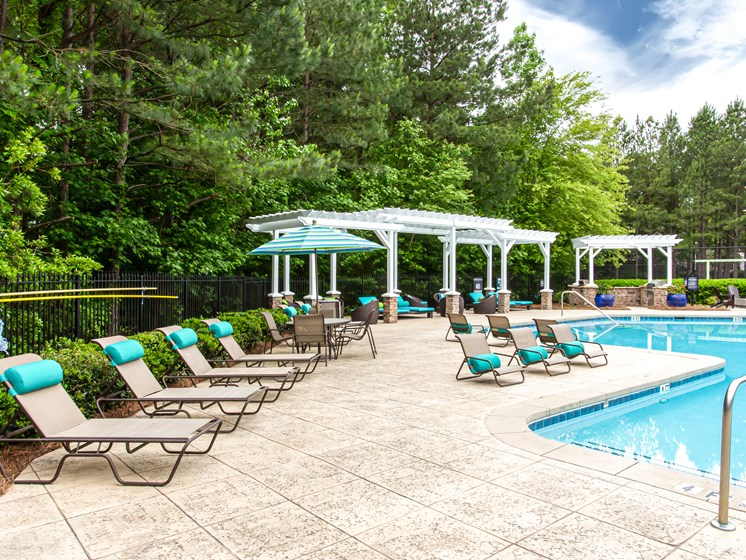 Brodick Hills pool with cabana and lounge chairs