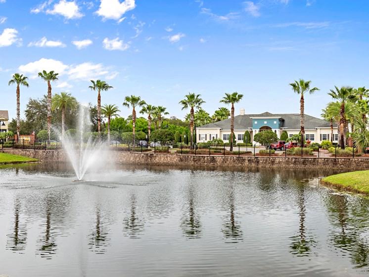 Pristine Pond Landscaping at Savannah at Park Central, Orlando, FL, 32839 Millenia