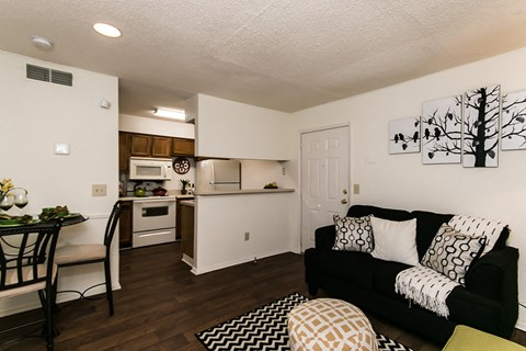 Waterford Apartments one bedroom living space