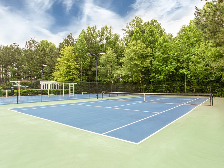 Brodick Hills tennis court
