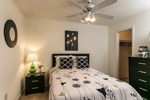 Waterford Apartments model bedroom