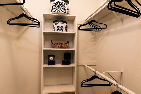 Waterford Apartments closet with shelving