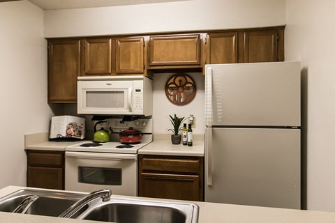 Waterford Apartments model one bedroom kitchen