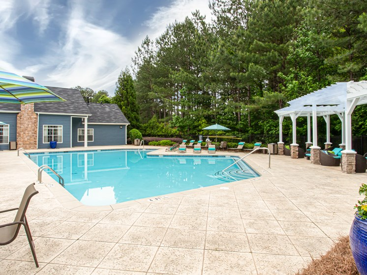 Brodick Hills pool deck
