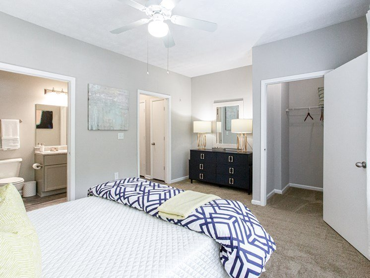 Brodick Hills 2 bedroom model master bedroom with bath view
