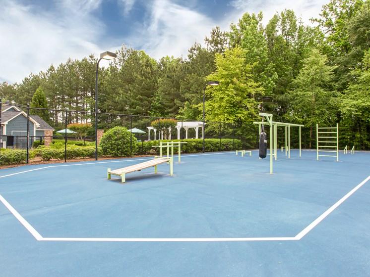Brodick Hills sports court