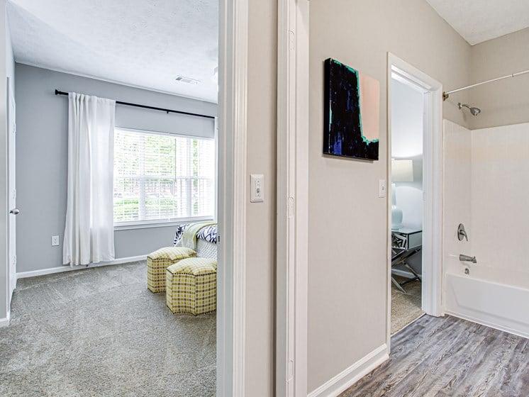 Brodick Hills 2 bedroom model shower bedroom split view