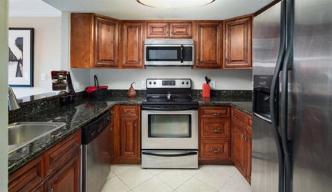 Upgraded Kitchen With Stainless Steel Appliances at Atler at Brookhaven, Atlanta, GA