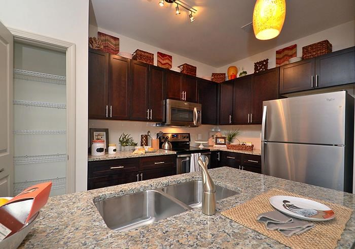 @1377 model kitchen with stainless appliances
