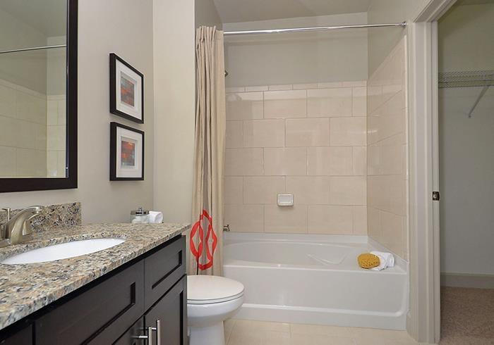 @1377 model bathroom with tub