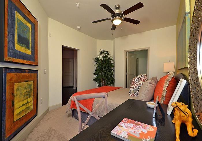 @1377 model bedroom with ceiling fan