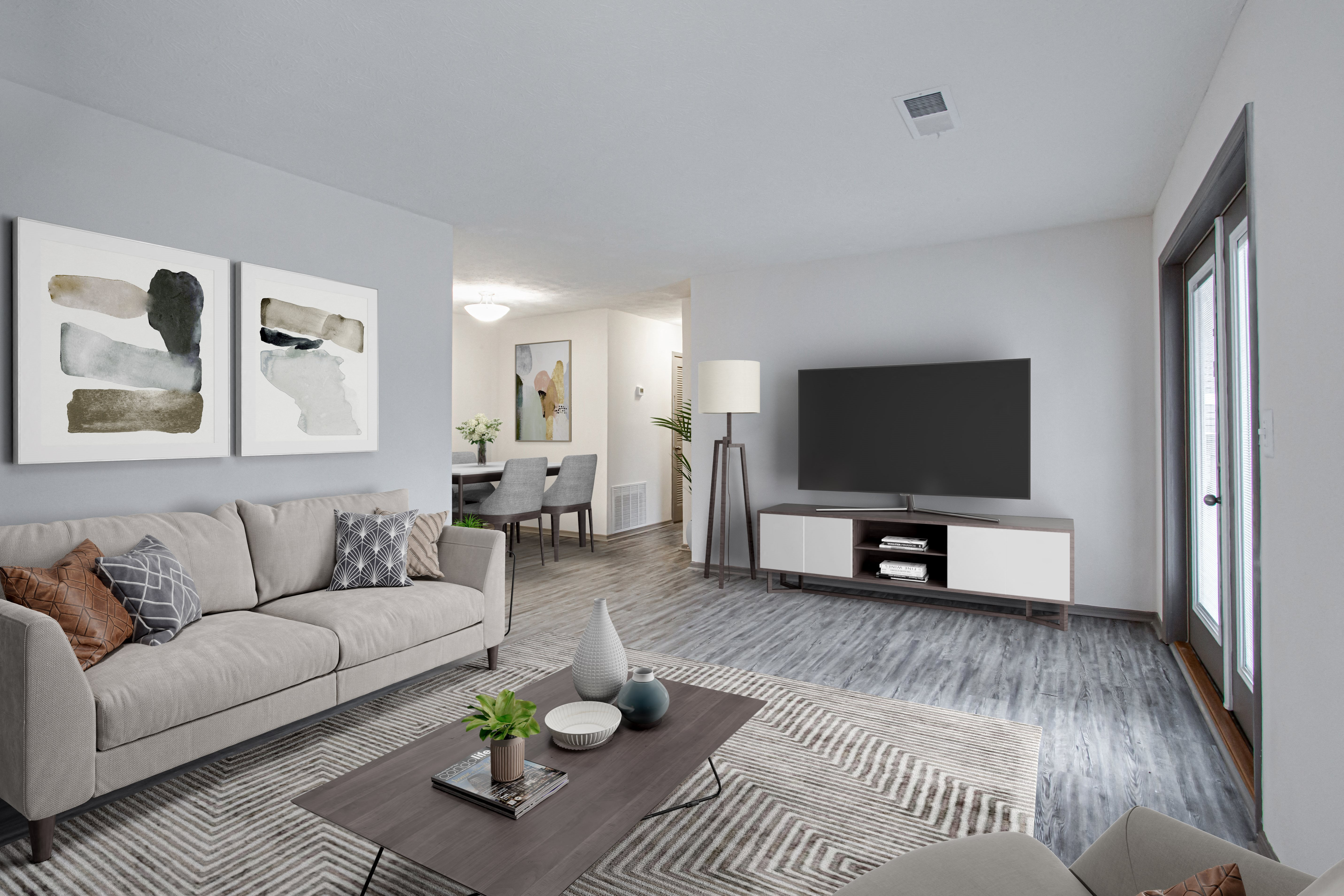 Living Room With Television at Reserve at Sweetwater Creek, Georgia, 30168