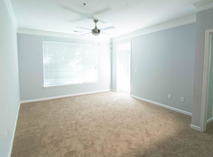 Spacious Bedroom with Ceiling Fan at Parkside Vista in Atlanta, GA 30340