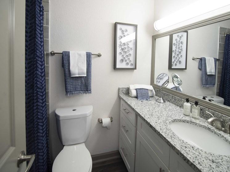 modern bath with tile surround at Paces Ridge at Vinings, GA 30339