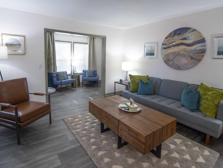 Contemporary Living Room at Paces Ridge at Vinings, Georgia