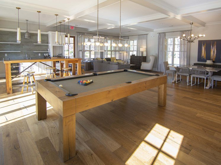 Billiards Table In Clubhouse at Paces Ridge at Vinings, Atlanta, 30339