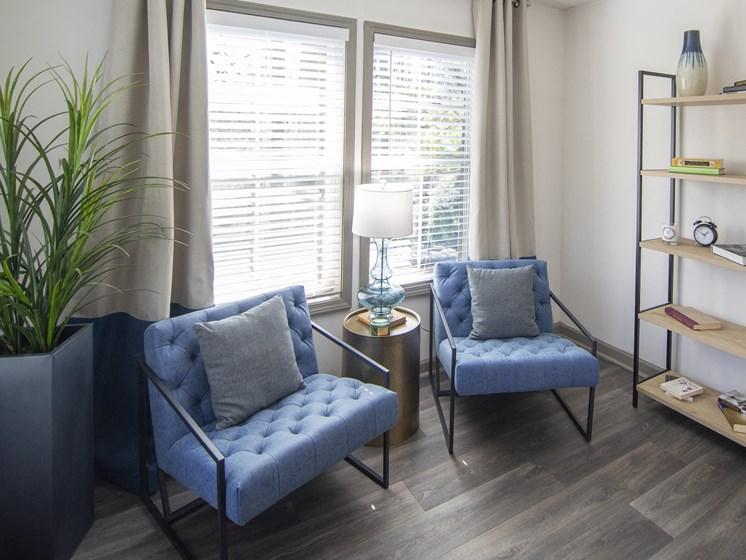 Bright Living Room at Paces Ridge at Vinings, Atlanta, GA