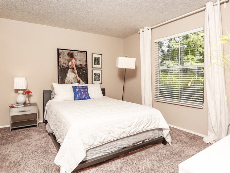 spacious large  Bedroom With Plenty Of Natural Lights