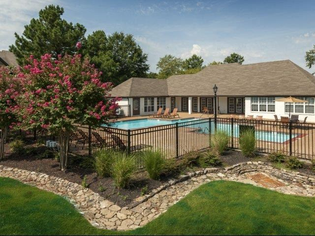 Inviting Swimming Pool with Sundeck and Lounge Chairs at The Addison at Collierville Apartments, Collierville, TN 38017