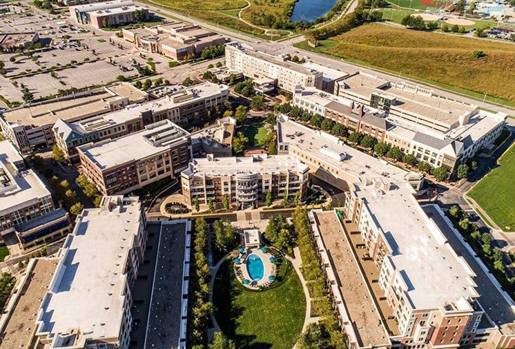 Aerial View Of The Community at The Residences at Park Place, Leawood, KS, 66211