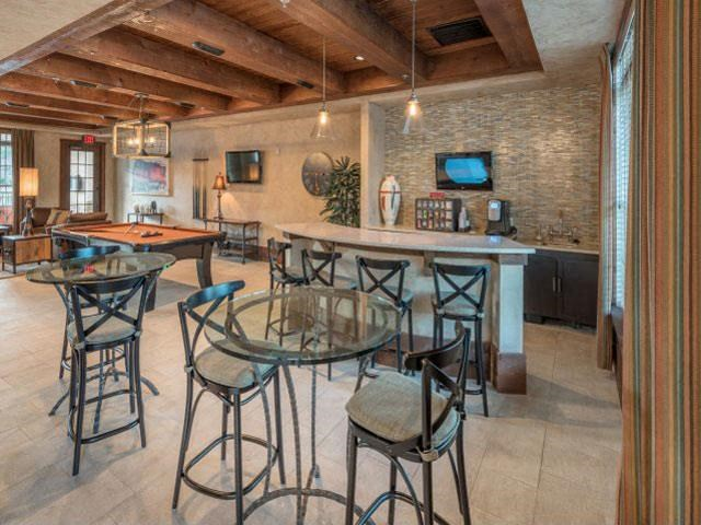 Gorgeous Intimate Resident Clubhouse with WiFi Cyber Cafe, TV, Bar Tables and Chairs at Ashby at Ross Bridge, Hoover, AL 35226