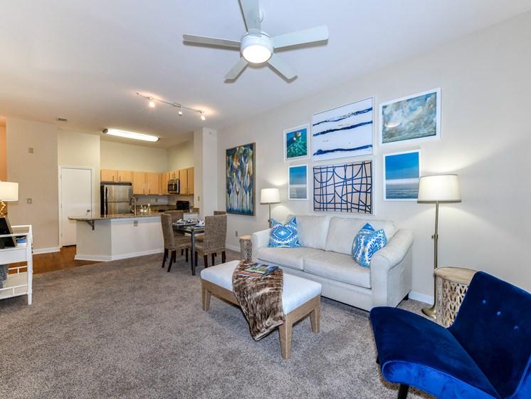 Modern Living Room at Bristol on Union, Memphis, TN