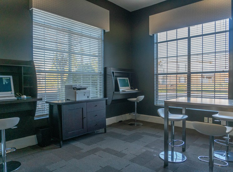 Business Center with Two Computer Stations and Copier with Printer for Residents at The Shallowford Apartment Homes, Chattanooga, TN 37421