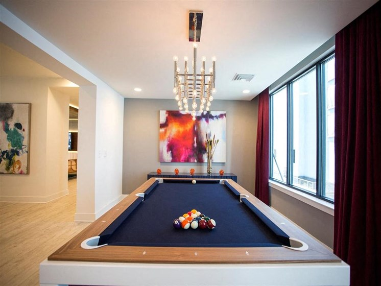 Billiards Table at The Dartmouth North Hills Apartments, Raleigh, NC