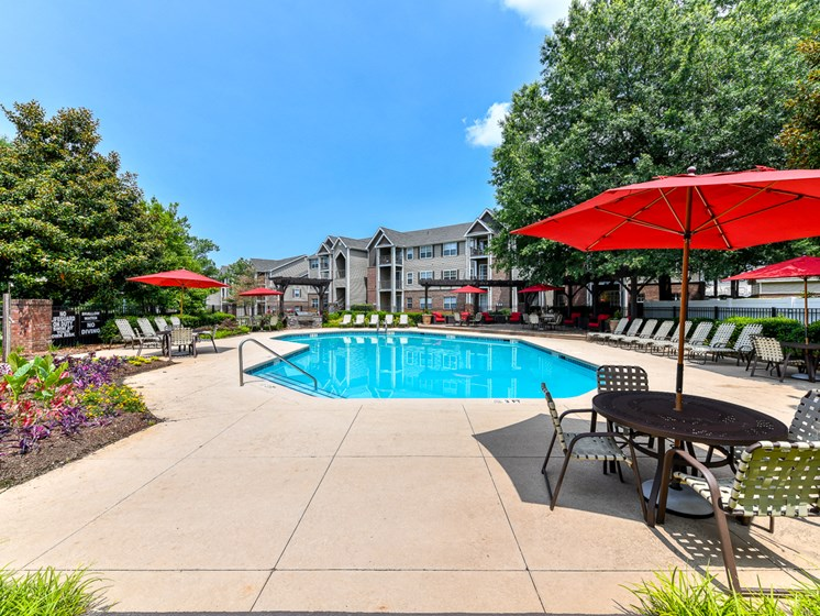 Lounge Swimming Pool With Cabana at Polos at Hudson Corners, Greer, 29650