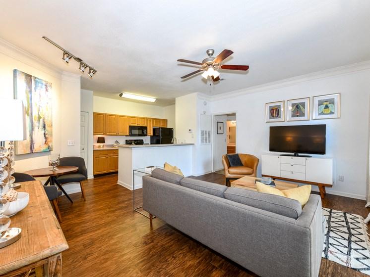 Spacious Living Room at Polos at Hudson Corners, Greer, SC, 29650