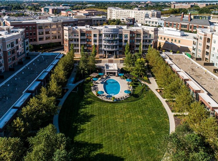 Aerial View Of The Property at The Residences at Park Place, Leawood, 66211