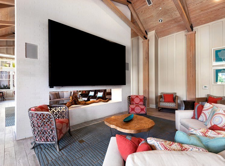 Club TV and lounge in Amenity Room at Spyglass Seaside