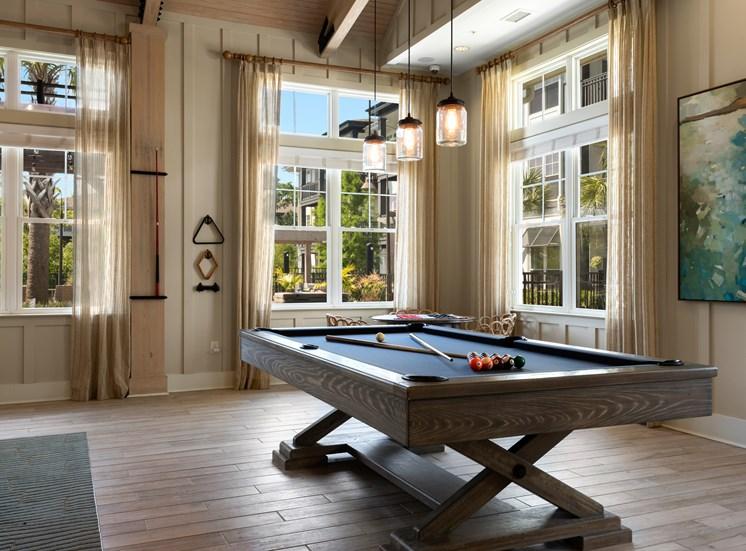 Pool Table in Amenity Room at Spyglass Seaside