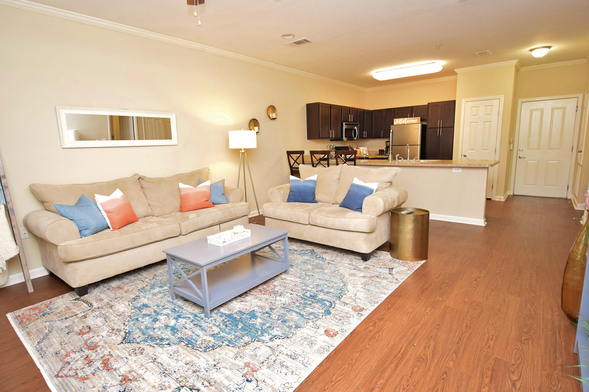 Open Living Spaces at Highlands of Grand Pointe Apartments in Lafayette, LA