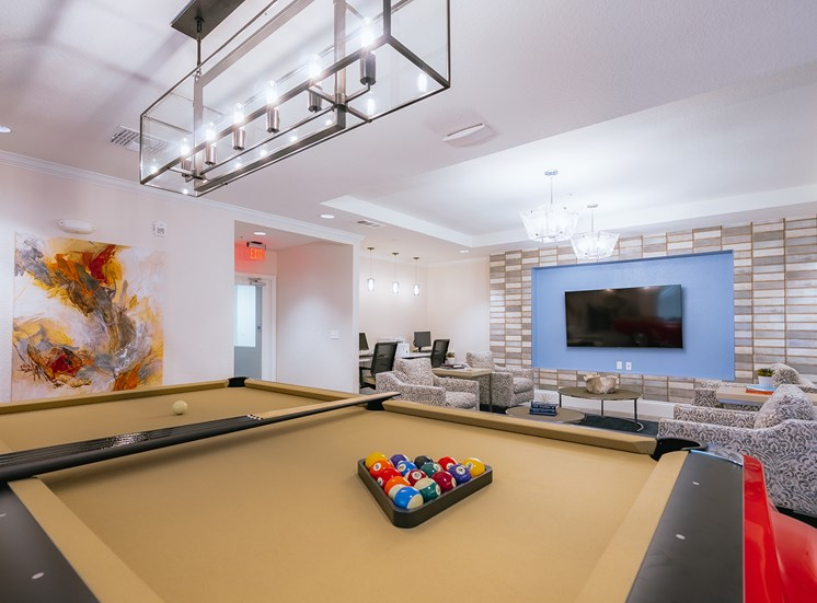 Senior Clubhouse w/1965 Ford Mustang Pool table