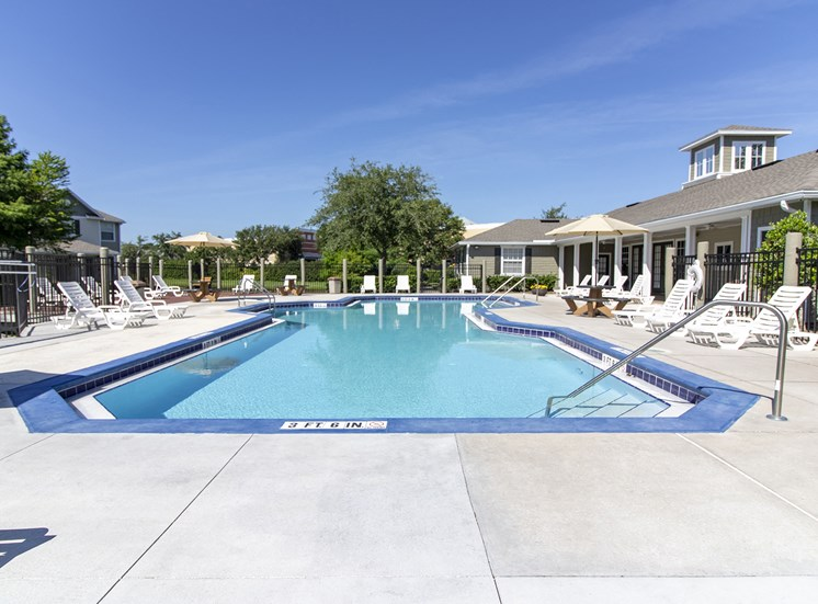 Pool With Sunning Deck