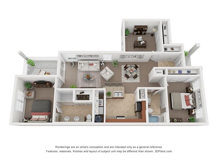 Villa - Two Bedroom w/Den Two Bath