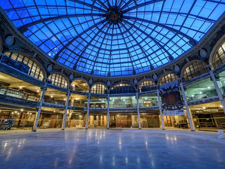 Rotunda interior - The Arts Lofts at Dayton Arcade, Dayton, OH - Tom Gilliam Photography