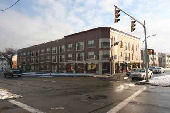 Street corner building-Fairfield Apartments Pittsburgh, PA