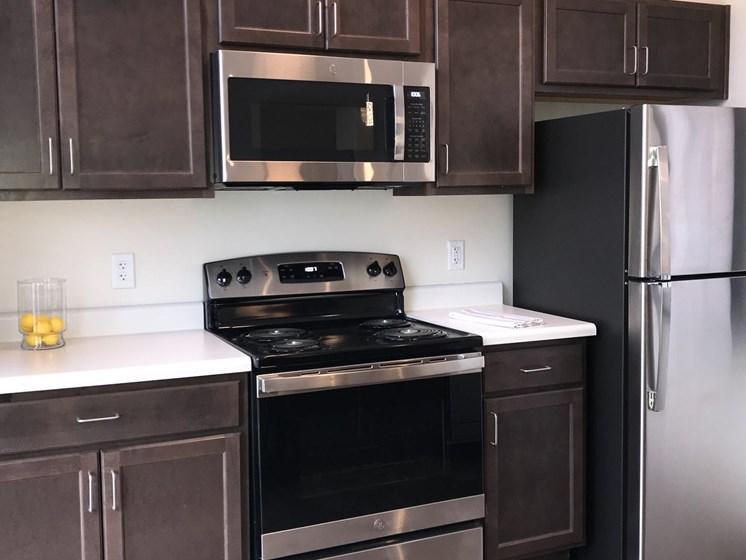 Apartment kitchen appliances-The Arts Lofts at Dayton Arcade, Dayton, OH