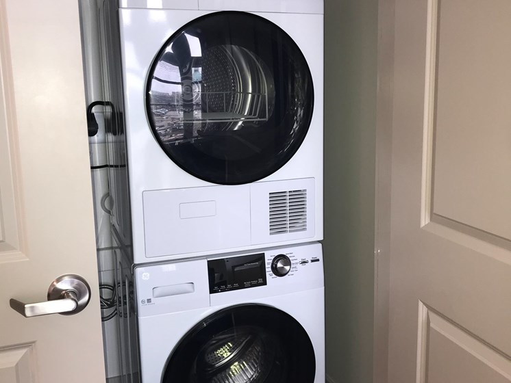 Washer and dryer in apartment-The Arts Lofts at Dayton Arcade, Dayton, OH