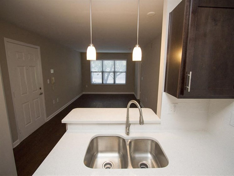 Kitchen sink and countertop-Quality Hill Square, Kansas City, MO