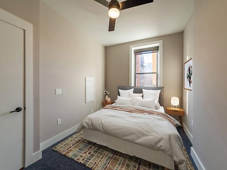 Furnished bedroom_Columbia Flats Apartments Cincinnati, OH