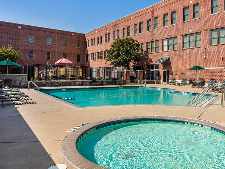 Outdoor pools-Legends Park Apartments, Memphis, TN