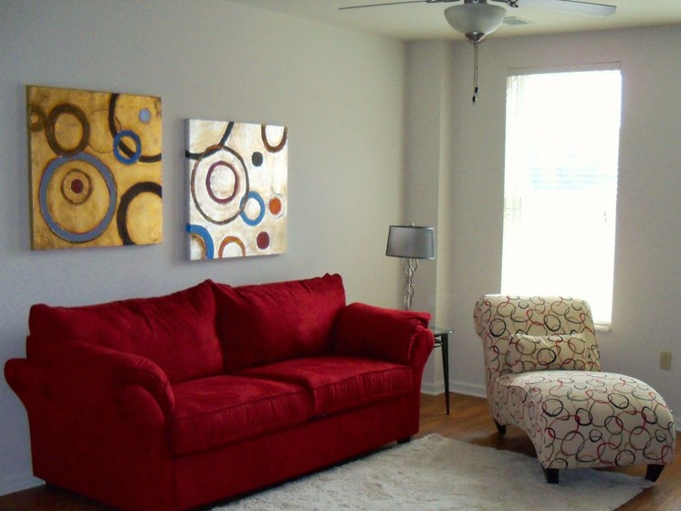 Furnished living room-Quimby Plaza Apartments Memphis, TN