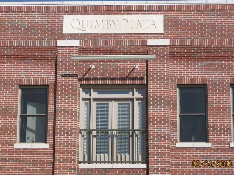 Exterior building sign-Quimby Plaza Apartments Memphis, TN