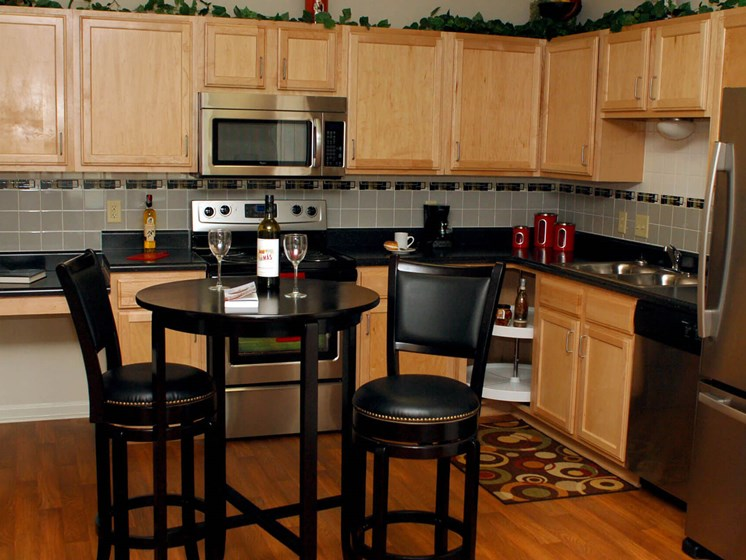 Furnished kitchen area-Quimby Plaza Apartments Memphis, TN