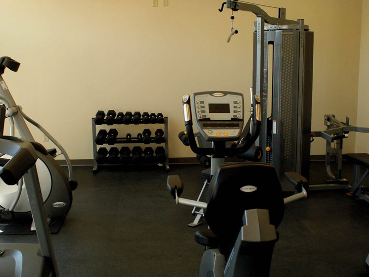 Exercise machines in fitness center-Quimby Plaza Apartments Memphis, TN